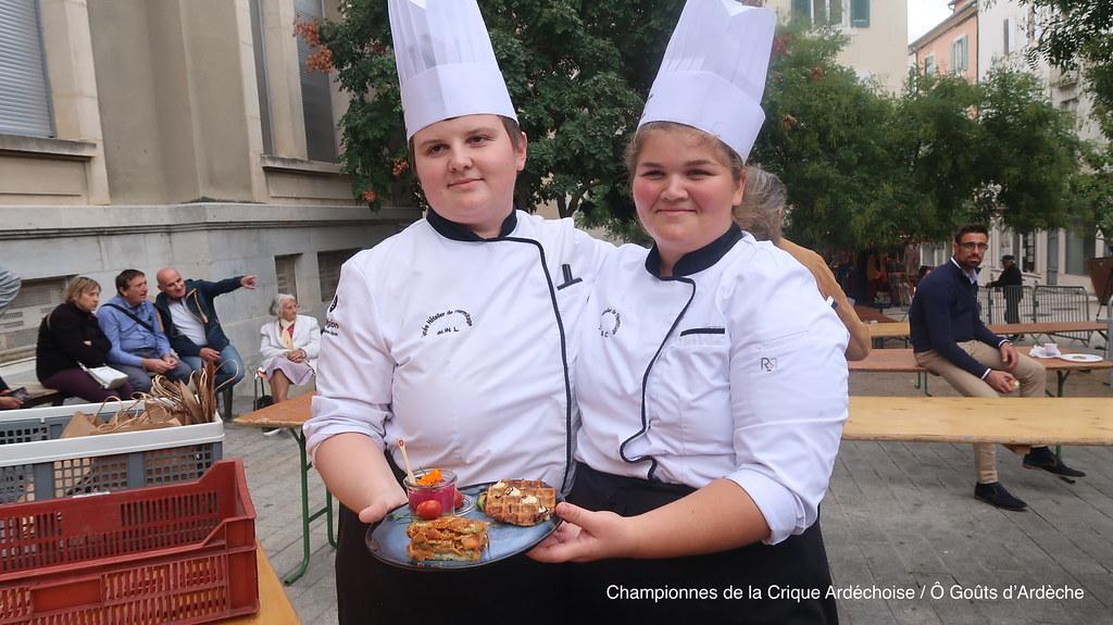 Championnat de la Crique Ardéchoise Gagnantes Ecole Hotelière