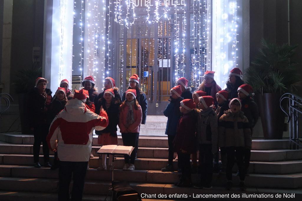 Chant des enfants - Lancement des illuminations de Noël