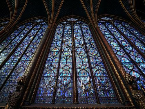 Gothic Sainte-Chapelle, 13th century. Paris, France