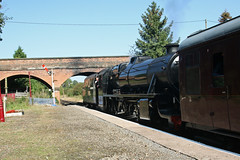 Photo of 45379 enters Market Bosworth with the train for Shackerstone