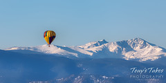 December 5, 2020 - High-flying balloon and the Rocky Mountains. (Tony's Takes)