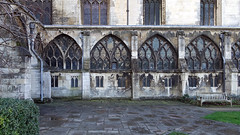 Cloister garth, Gloucester Cathedral
