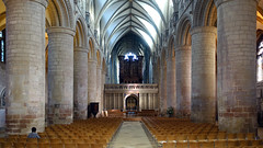 Nave looking east, Gloucester Cathedral