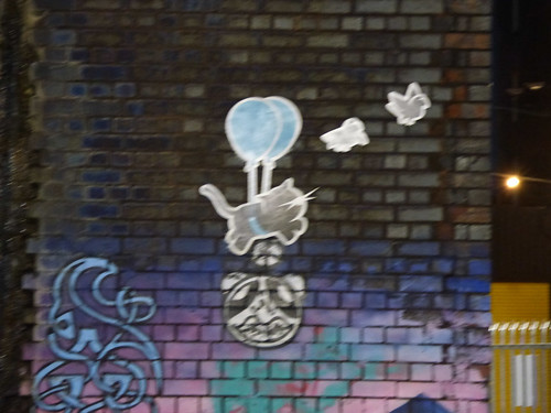 Balloon Cat and Twitters - Custard Factory under the Bordesley Viaduct, Digbeth