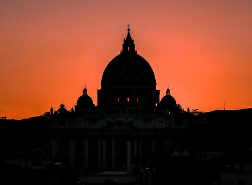 Saint Peter on fire. Rome. Explore