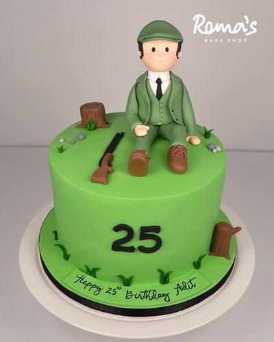 Skeet shooting cake