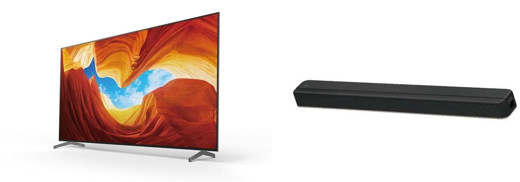圖2) Sony為滿足高品質影音愛好者,推出超值影音升級提案最高可優惠NTD 5,000元,輕鬆購入Dolby Atmos 單件式環繞音響(圖為X9000H和HT-8500)