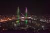 New Gerald Desmond Bridge  Lighting  Debut Night
