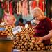 Woman selling potatoes