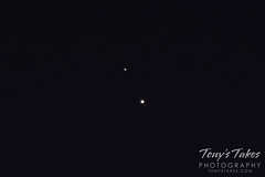 December 16, 2020 - Saturn and Jupiter with two of Jupiter's moons. (Tony's Takes)