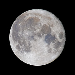 Full Moon, real colors