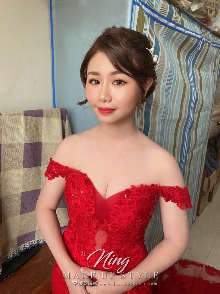【新秘羽寧 】bride佳蓉 訂婚造型 / 皇冠造型,韓系優雅