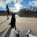 Am See direkt in der Stadt entspannen, mit dem Hund draußen sitzen und die Wintersonne genießen