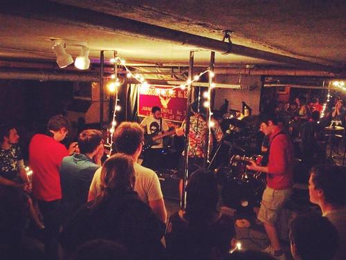 Scranton Boston rock band Lesser Animals 2012 Parasalene EP basement show