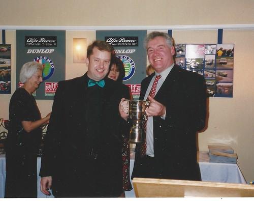 Graham Heels - Champion 2003 - receives trophy from Graham Presley