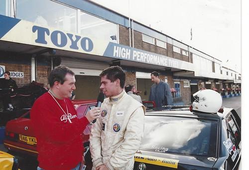 David Addison interviews Richard Connell at Donington 2002