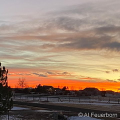 December 20, 2020 - A beautiful end to the day. (Al Feurborn)