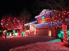 December 20, 2020 - Holiday decorations in Thornton. (LE Worley)