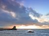 Saltcoats Rock Splash Sunset1