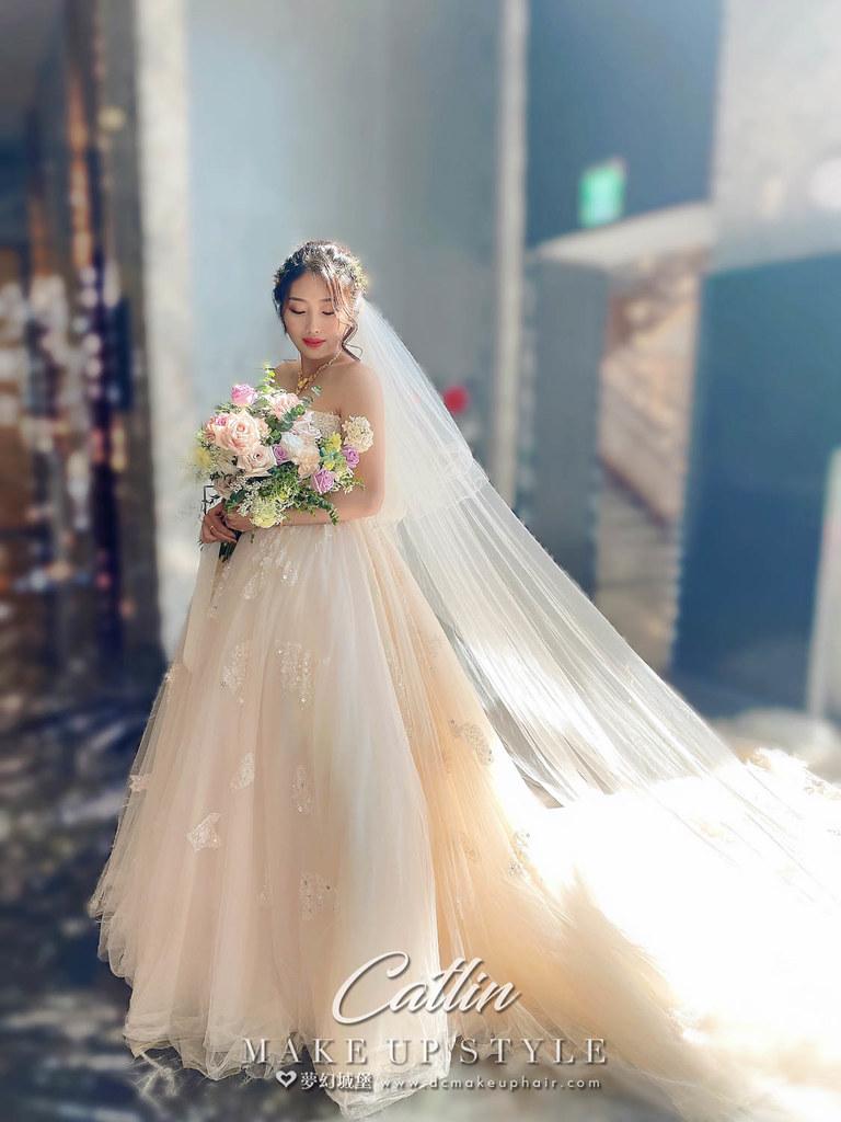 【新秘Catlin 】bride芃榆 結婚造型 /仙女風格,女神系