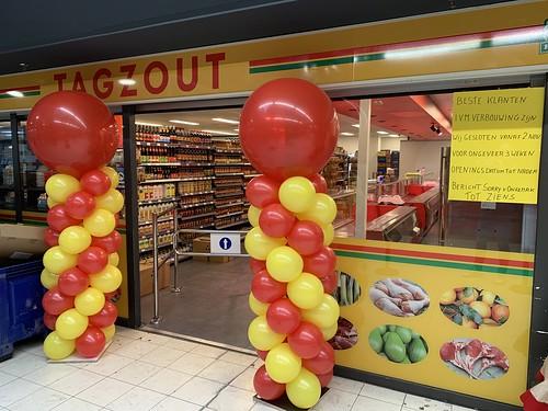 Ballonpilaar Breed Rod Opening Tagzout De Terp Capelle aan den IJssel
