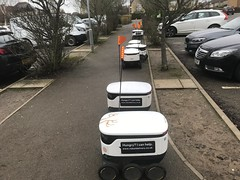 Photo of Co-op delivery robots