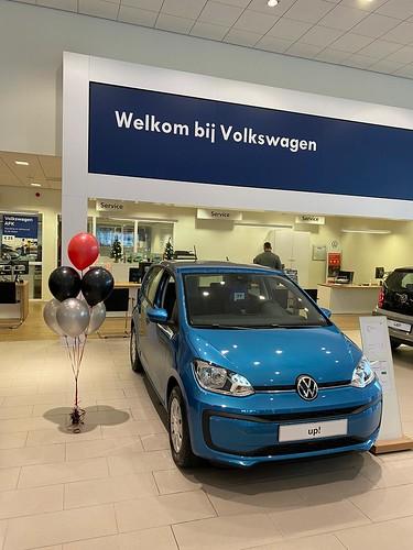 Tafeldecoratie 6ballonnen Introductie nieuwe Volkswagen GTI Hoogenboom Rotterdam