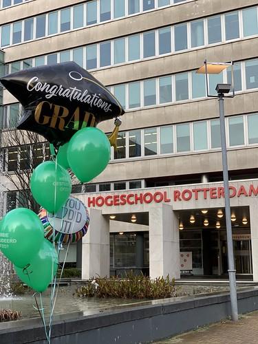Ballonboeket Geslaagd Hoge School Rotterdam Rotterdamse Ballonnen