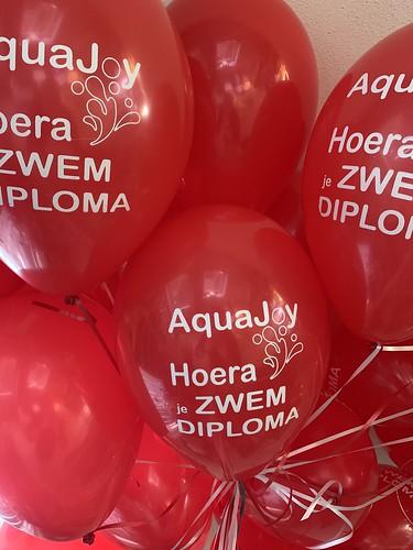 Heliumballonnen Zwemdiploma Zwembad IJsselmonde Rotterdam