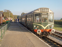 Photo of Class 110 at Redmire on the Wensleydale Railway, 26 October 2007,