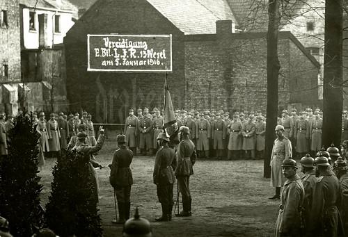 "So Help Me God ""Vereidigung Ersatz Bataillon Landwehr Infanterie Regiment 13 Wesel am 5. Januar 1916."" image"