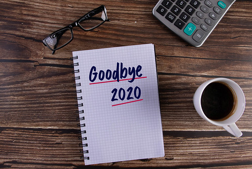 Open notebook with Goodbye 2020 text on by wuestenigel, on Flickr