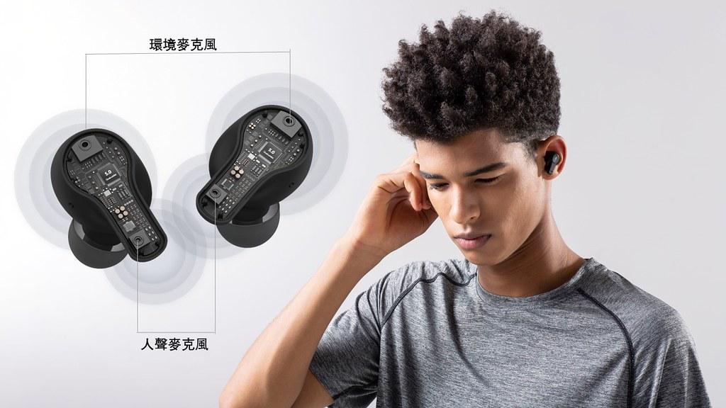 1MORE PistonBuds真無線耳機,以超親民提供消費者輕鬆擁有降噪款耳機,搭載深度神經網路通話降噪技術,能夠精準辨識通話人聲。