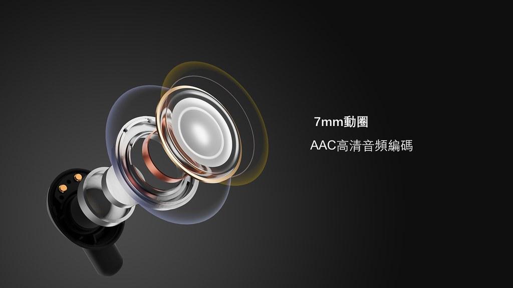 PistonBuds 真無線耳機搭載AAC高音質藍牙模式,能對應各類音樂形式的呈現模式。