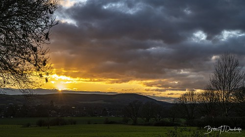 Christmas Eve Sunset on the South Downs