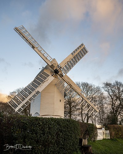 Oldland Mill in the light of the setting sun