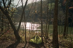 My campsite on the Cumberland River