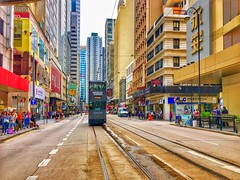 Hong Kong trams known as Ding Ding