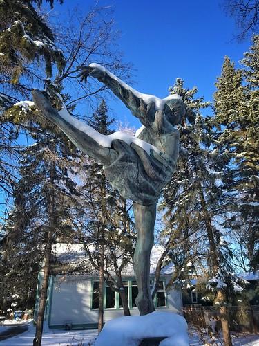 Winter in the Leo Mol Sculpture Garden