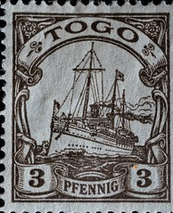 First stamps issued as the German Colony in Togo West Africa