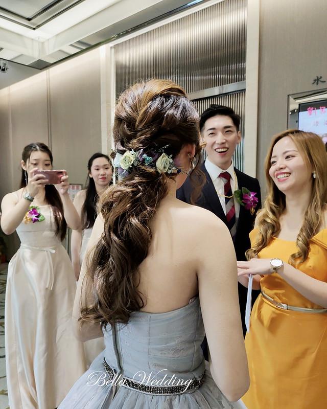 嘉義新秘,婚宴造型,新悦花園酒店, 清新自然妝感 , 名媛風新娘造型 ,氣質非凡低馬尾