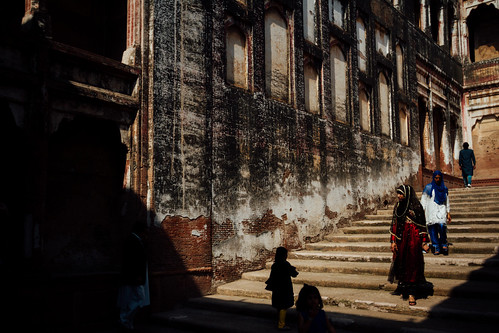 Old Stairway in Lahore Fort, Lahore Pakistan