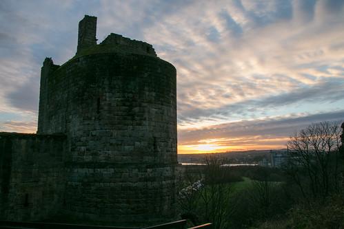 Sunset over Ravenscraig Castle  2