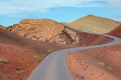 Road along the Caldera of Montaña del Fuego