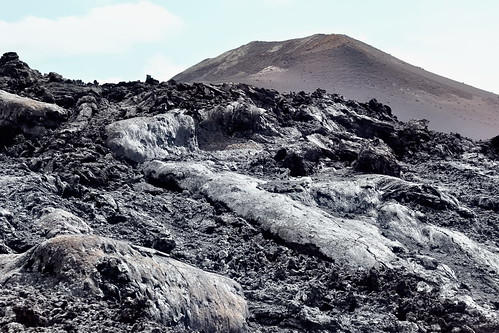 solidified lava stream in the Timanfaya National Park