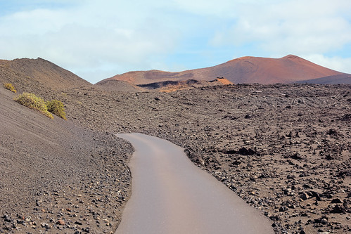 Along the vulcans in the Timanfaya National Park