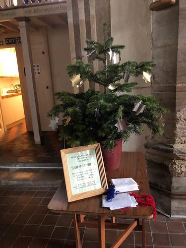 The Sightsavers Christmas tree