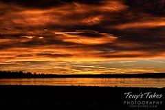 December 26, 2020 - A deep orange sunrise. (Tony's Takes)