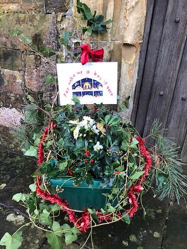 Christmas entrance display by Miss Wheelhouse