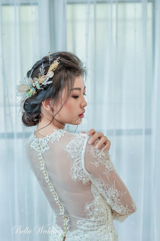 嘉義新秘bella,新娘秘書,婚禮造型,清透妝感,仙女造型,韓系編髮,乾燥花造型